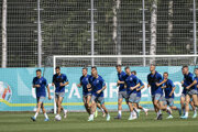 Slovak football representatives during training in St. Petersburg, where Slovaks will play the first two matches of the European Championship.