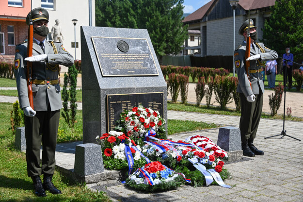 The American and British soldiers were commemorated in Polomka.