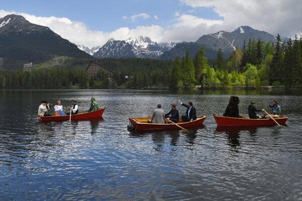 Štrbské Pleso is a popular destination in the High Tatras.