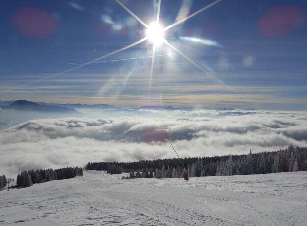 The Kubínska ski park above the town of Dolný Kubín.