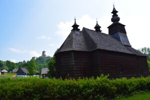 Open-air museum under Stará Ľubovňa Castle.