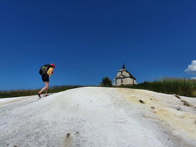 A shot capturing a part of Jana Liptáková's pilgrimage trip around eastern Slovakia.