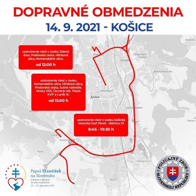 Traffic restrictions in Košice on September 14.