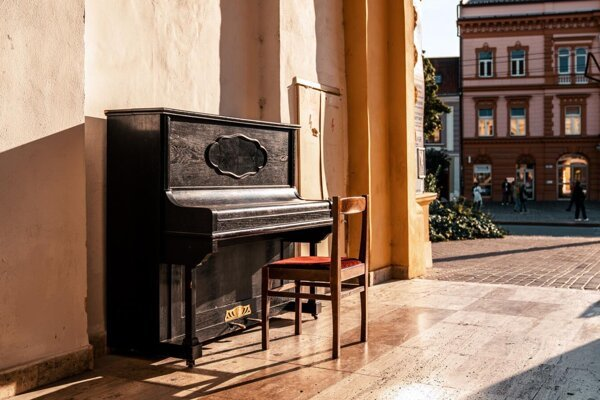 The very first street piano has been installed in Prešov, eastern Slovakia.