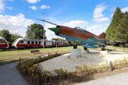 The MiG-21 jet fighter became part of the new Tri Duby recreation park next to the railway station in Sliač, central Slovakia. It was transported here from the local air base.