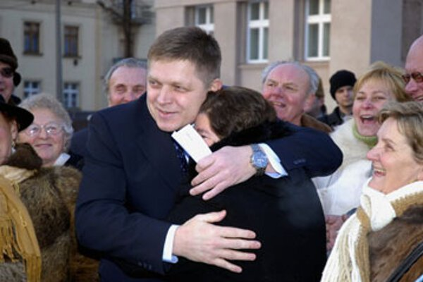 Prime Minister Robert Fico remains popular among his supporters.