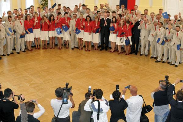 About 30 Slovak athletes attended the ceremony with President Ivan Gašparovič.