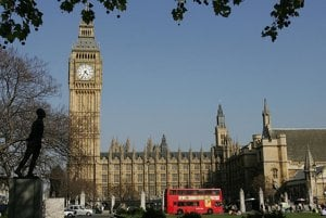 The Houses of Parliament in London.