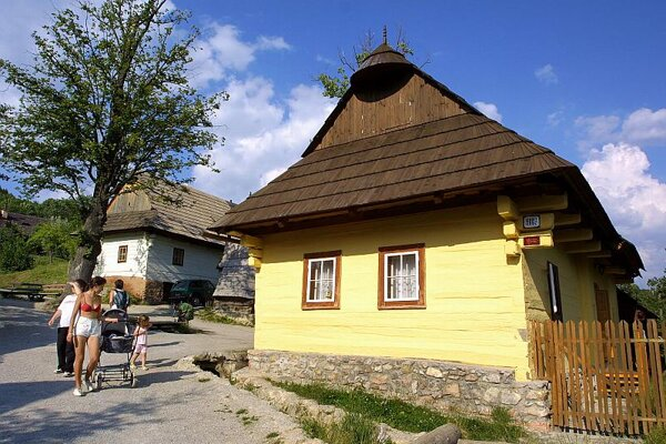 Many houses in UNESCO-protected Vlkolínec have been turned into holiday houses.