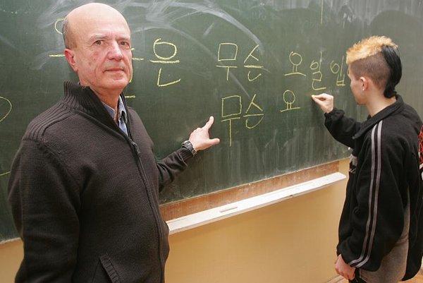 Jozef Gregor teaches Korean in Ilava.