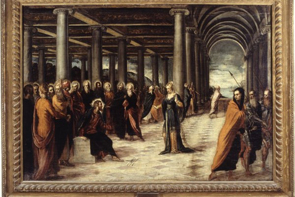 Christ and the Woman Taken in Adultery by Tintoretto.