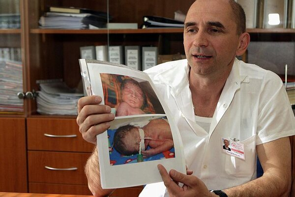 Peter Krcho, head of the neonatal clinic