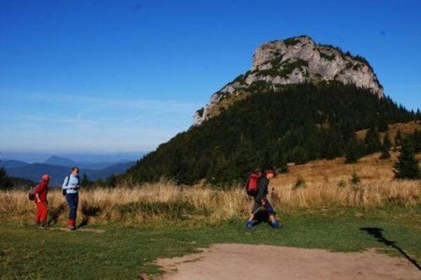 The Malý Rozsutec peak in Malá Fatra mountain range.