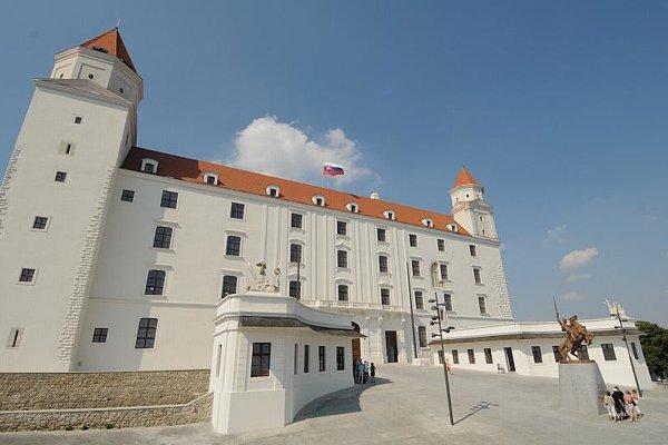 Bratislava Castle's new facade.