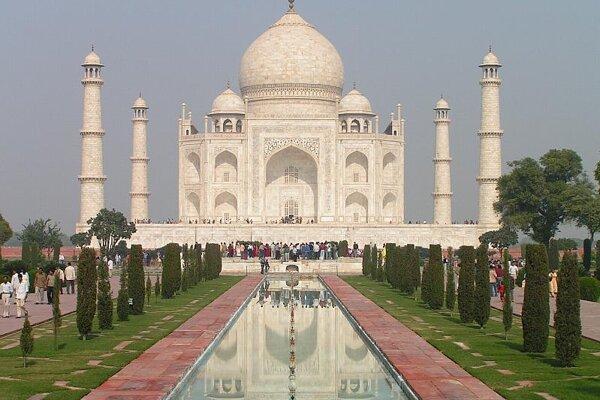 The Taj Mahal in Agra, India.