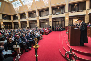 Ban Ki-moon receives Doctoris Honoris Causa at the Comenius University
