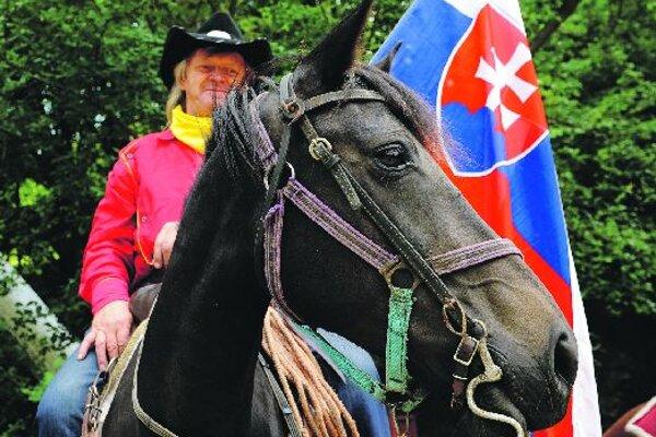 A latter-day Pony Express messenger.