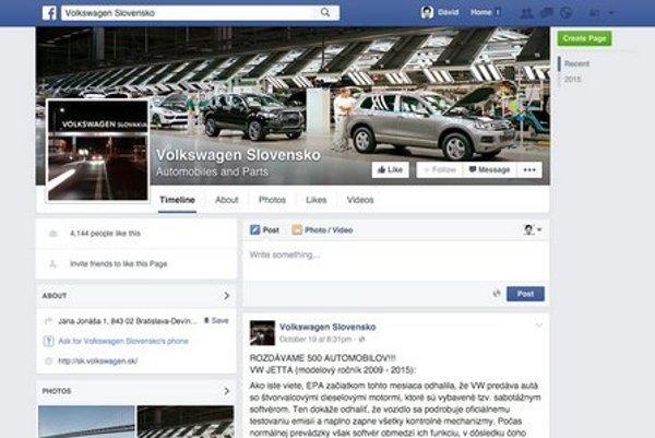 The false VW website