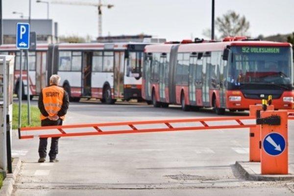 The Bonul company guarded also the Bratislava Transport Company, back in 2012.