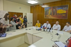 National Institute of Oncology press conference regarding the stomach surgery of Parliament Speaker Andrej Danko.