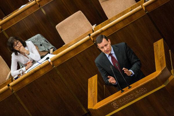 Daniel Lipšic in parliament