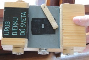 Wooden camera obscura made by Jozef Pajerský