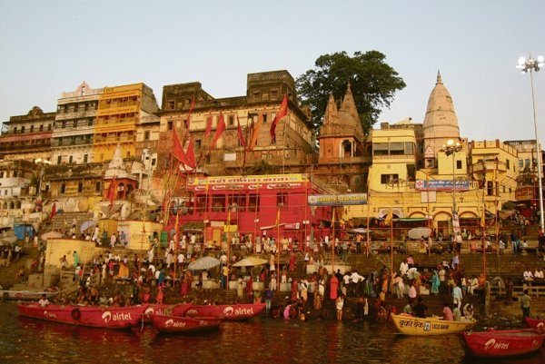 Varanasi, a city on the Ganges River.
