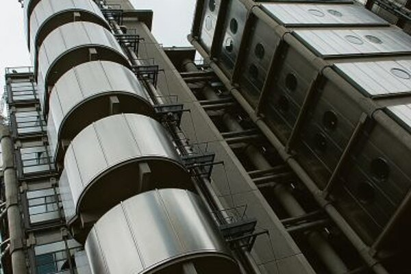 The iconic Lloyd's building in London.