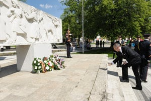President Kiska laid wreaths in Sereď.