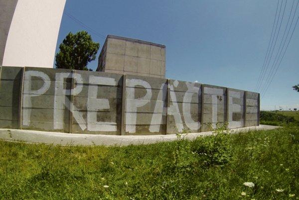 The wall in Košice