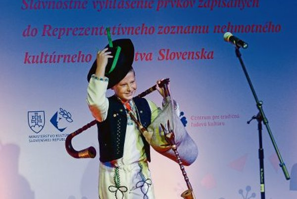 Slovak bagpipes are used for dance music.
