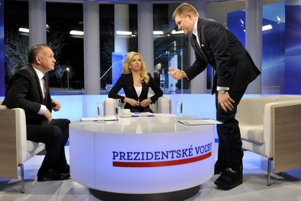The presidential debate broadcast by private Markíza television on March 25.