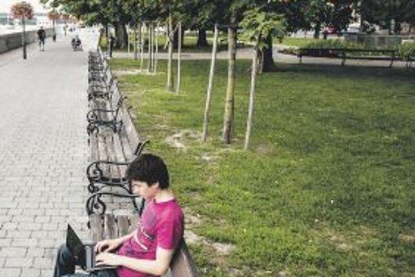 A WiFi hot spot in Bratislava near the Danube River.