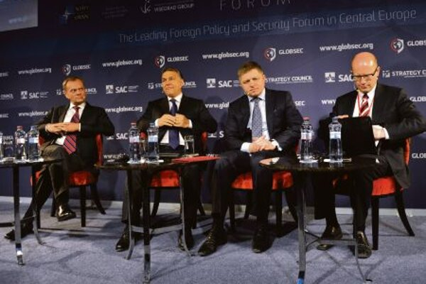The V4 prime ministers met at GLOBSEC.