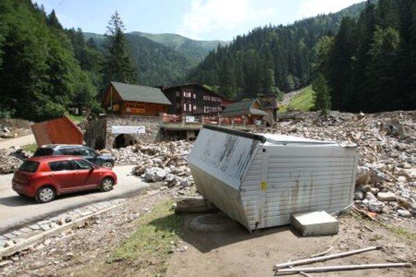 This year's floods caused huge damage in Vrátna.