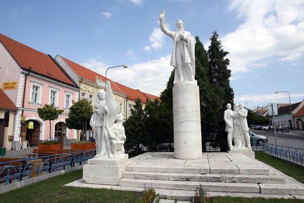 The statue of Ľudovít Štúr in Modra.