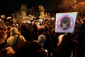 The Gorilla file has caused many protests in Slovakia.