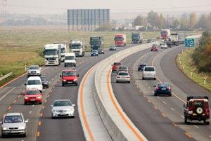Section of D1 highway between Bratislava and Trnava.