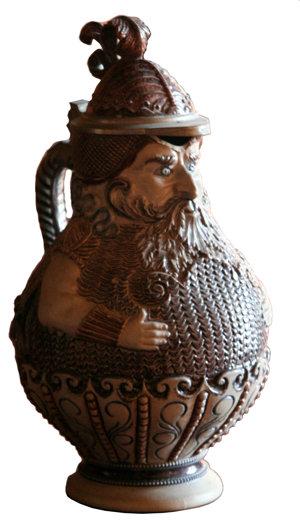 A beer mug from Červený Kameň Castle.