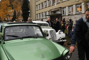 Vintage communist car, Trabant