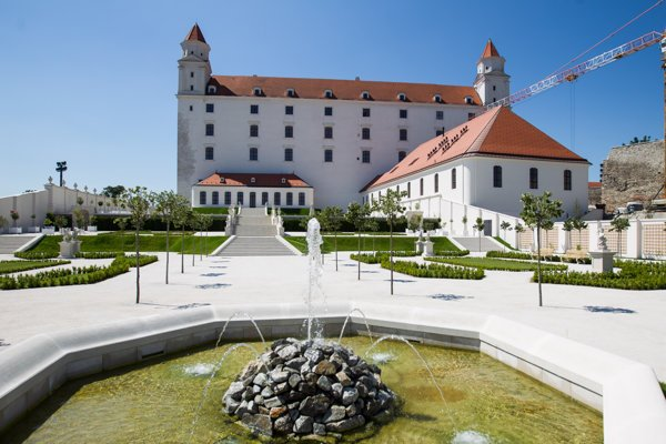 The reconstructed Bratislava Castle
