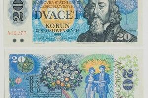 Albín Brunovský: Návrh bankoviek I. – IV. 1986 – 1987; SNG, Bratislava