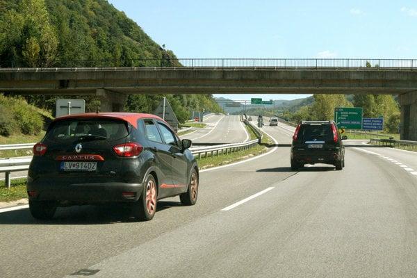 Highways in Slovakia. Illustrative stock photo.