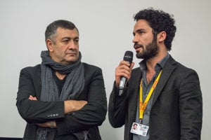 Director Mano Khalil and actor Ismail Zagros (The Swallow / Die Schwalbe) attended the screeneing in person.