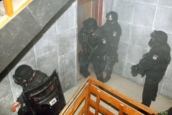 Memebrs of the Atlas anti-terrorist unit train in Lešť, Slovakia - illustrative stock photo