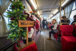 Inside the Christmas Tram 2016
