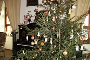 Christmas tree at the Bojncie Castle...