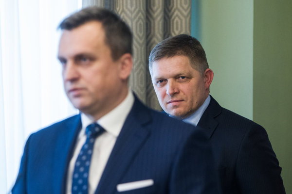 Andrej Danko and Robert Fico.