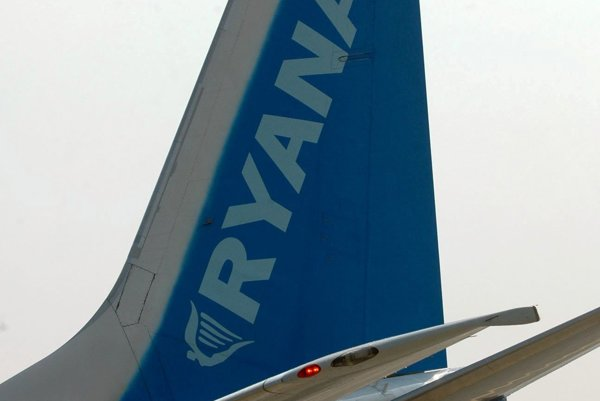 Ryaniar plane, illustrative stock photo