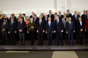 NATO ministers in Brussels